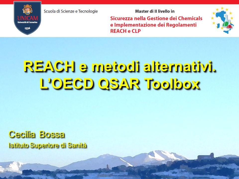 REACH e metodi alternativi. L'OECD QSAR Toolbox
