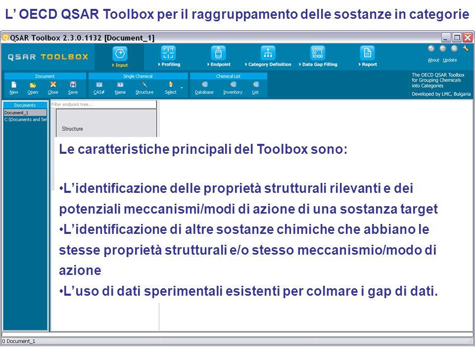 L' OECD QSAR Toolbox per il raggruppamento delle sostanze in categorie