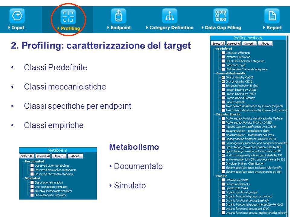 2. Profiling: caratterizzazione del target