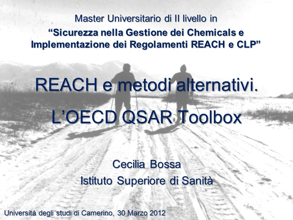 REACH e metodi alternativi. L'OECD QSAR Toolbox