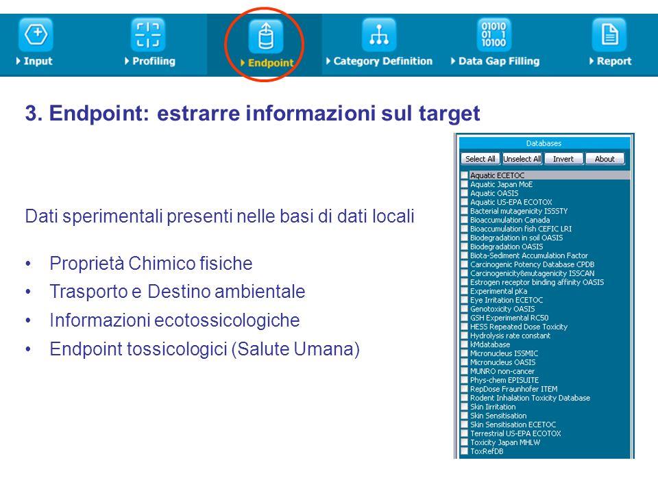 3. Endpoint: estrarre informazioni sul target