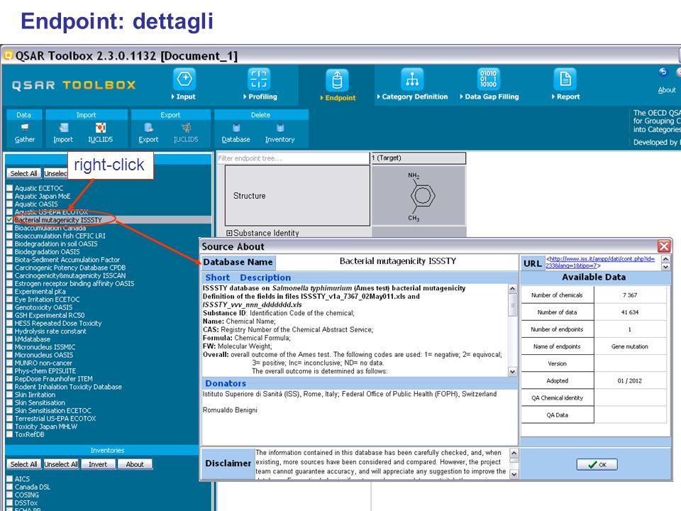 Endpoint: dettagli right-click