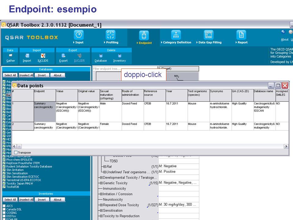 Endpoint: esempio doppio-click doppio-click