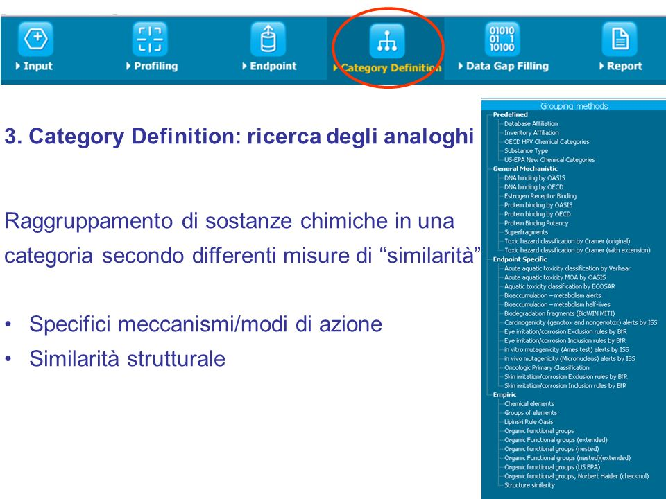 3. Category Definition: ricerca degli analoghi