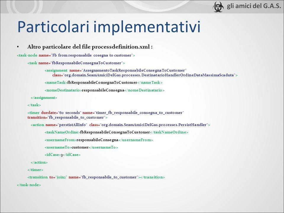 Particolari implementativi