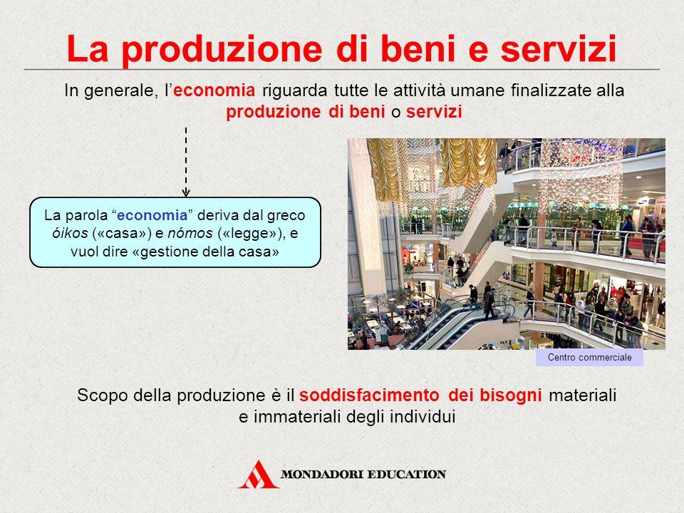 La produzione di beni e servizi