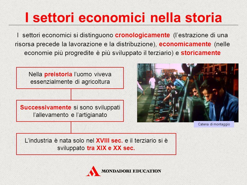 I settori economici nella storia