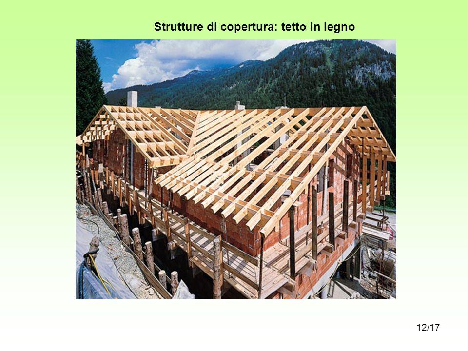 Strutture di copertura: tetto in legno