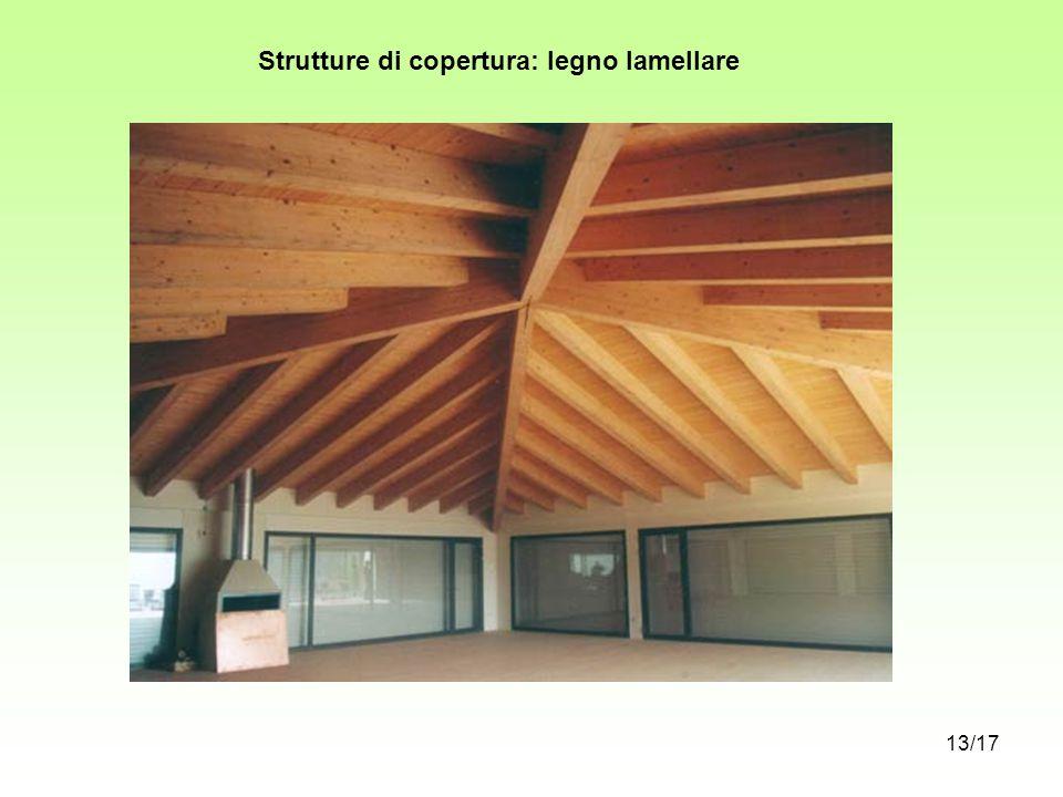 Strutture di copertura: legno lamellare