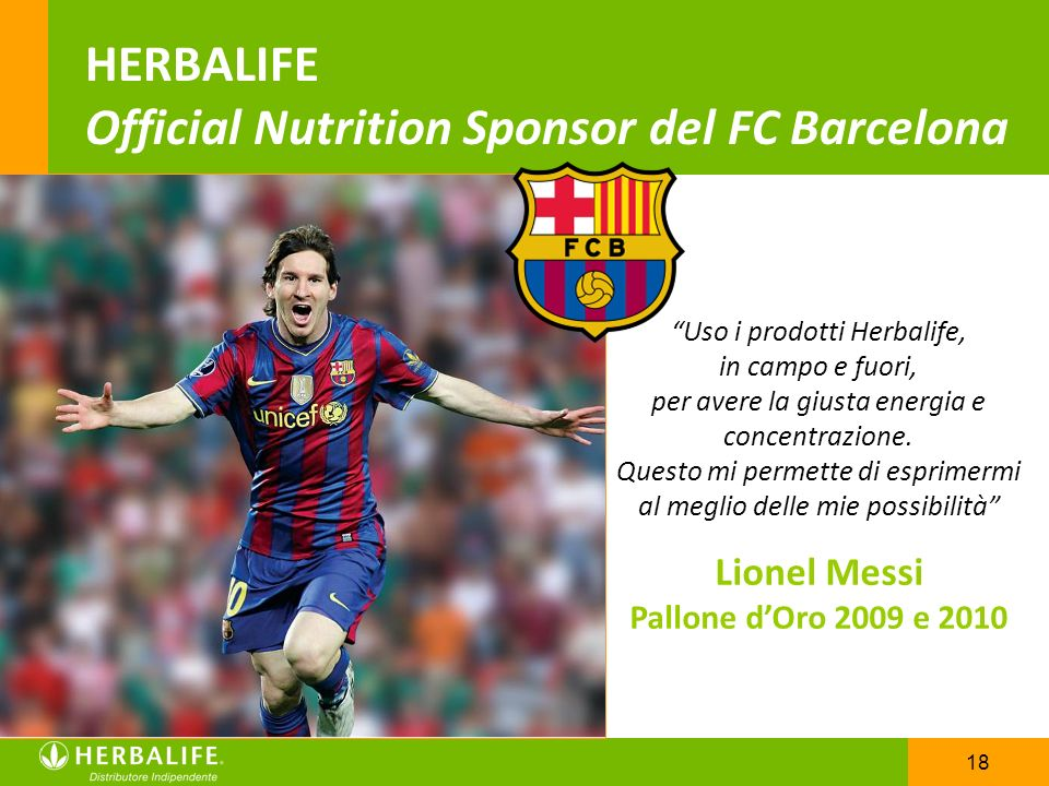 HERBALIFE Official Nutrition Sponsor del FC Barcelona