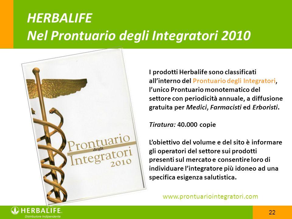 HERBALIFE Nel Prontuario degli Integratori 2010