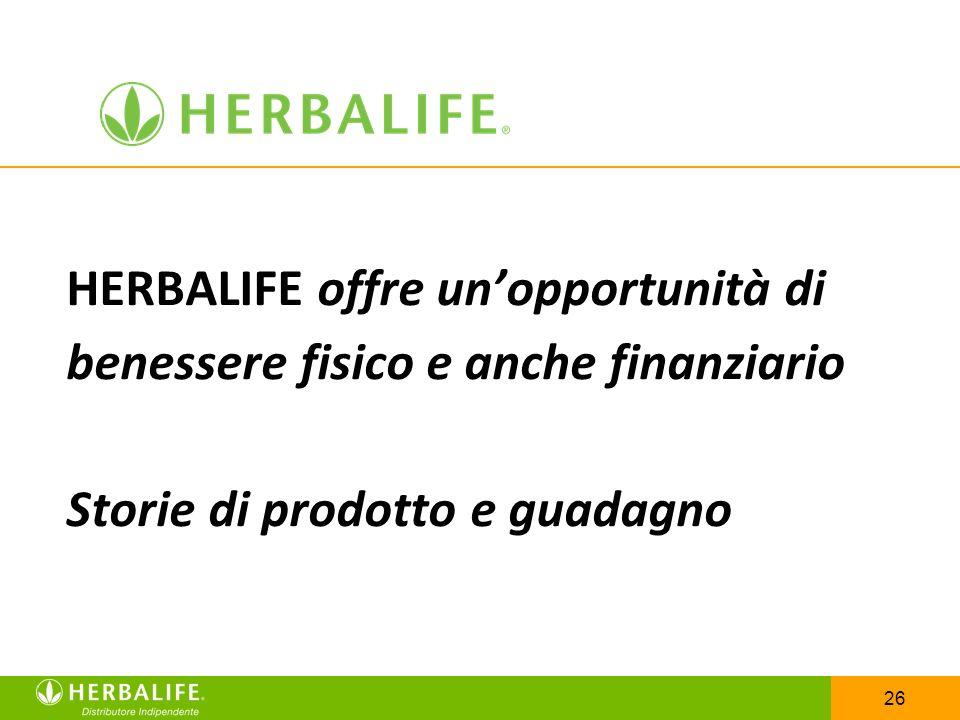 HERBALIFE offre un'opportunità di benessere fisico e anche finanziario Storie di prodotto e guadagno