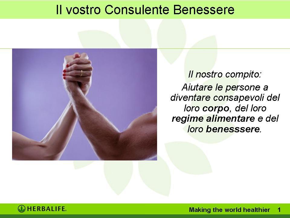 Il nostro compito:Aiutare le persone a diventare consapevoli del loro corpo, del loro regime alimentare e del loro benesssere.