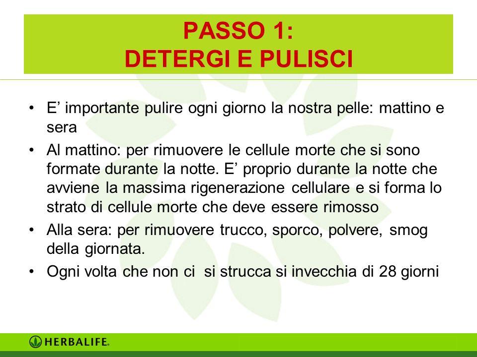 PASSO 1: DETERGI E PULISCI