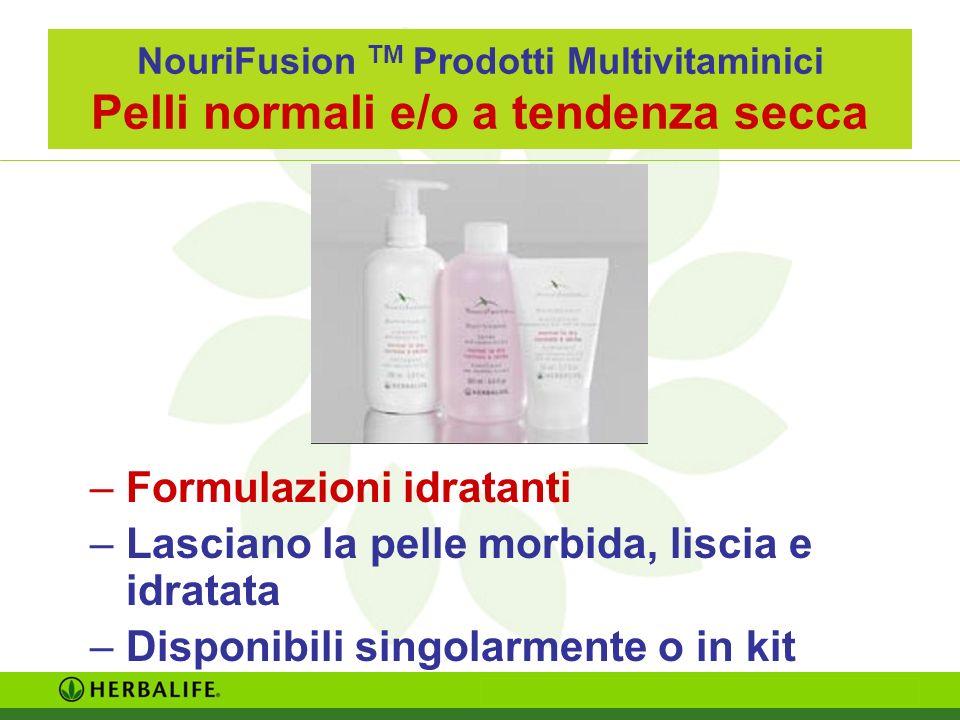 Formulazioni idratanti Lasciano la pelle morbida, liscia e idratata