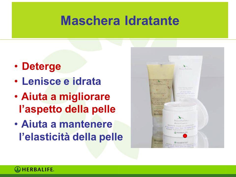 Maschera Idratante Deterge Lenisce e idrata