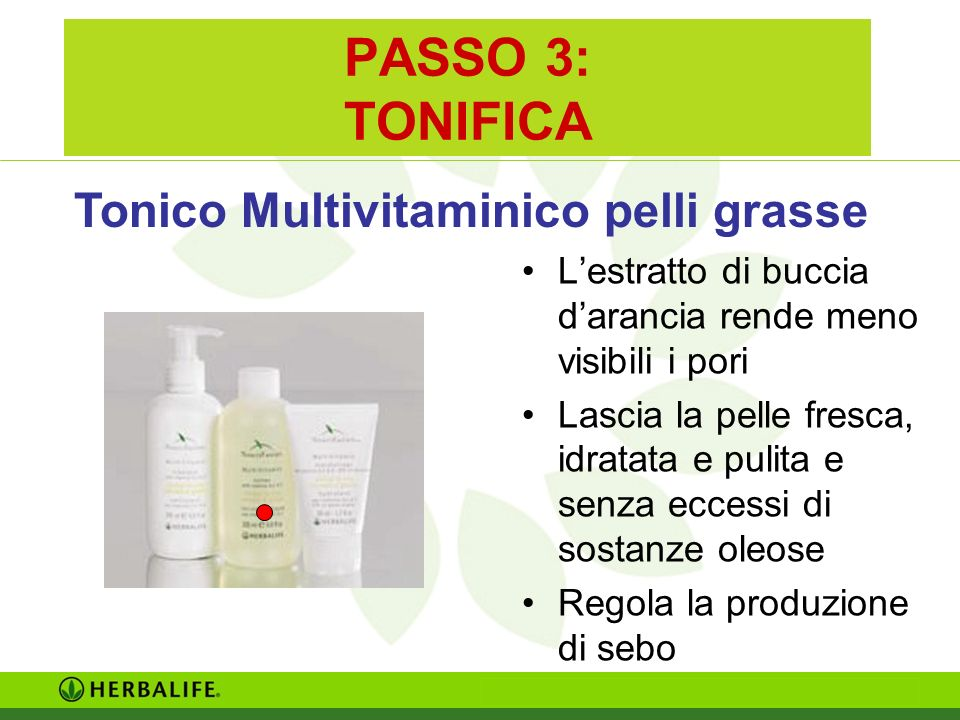 PASSO 3: TONIFICA Tonico Multivitaminico pelli grasse