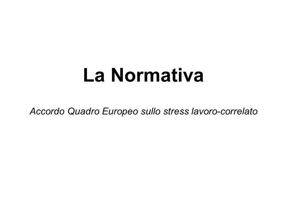 La Normativa Accordo Quadro Europeo sullo stress lavoro-correlato