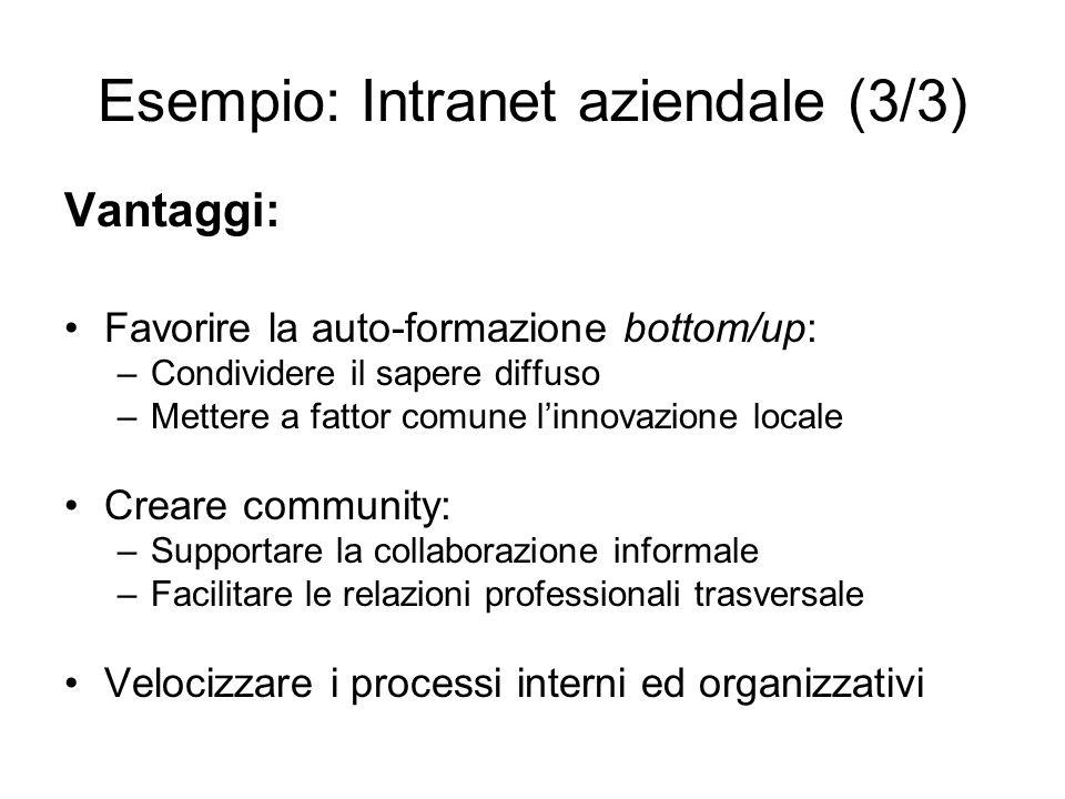 Esempio: Intranet aziendale (3/3)