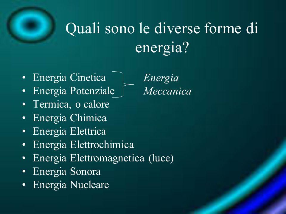 Quali sono le diverse forme di energia