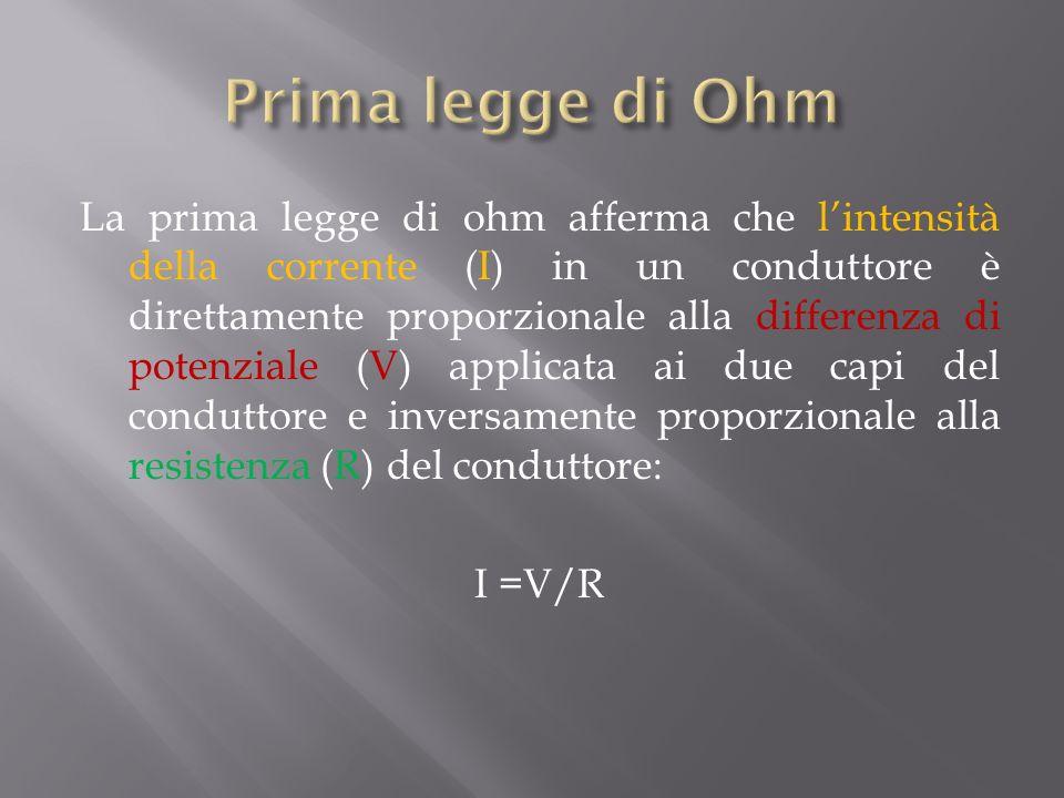 Prima legge di Ohm