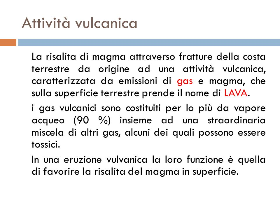 Attività vulcanica