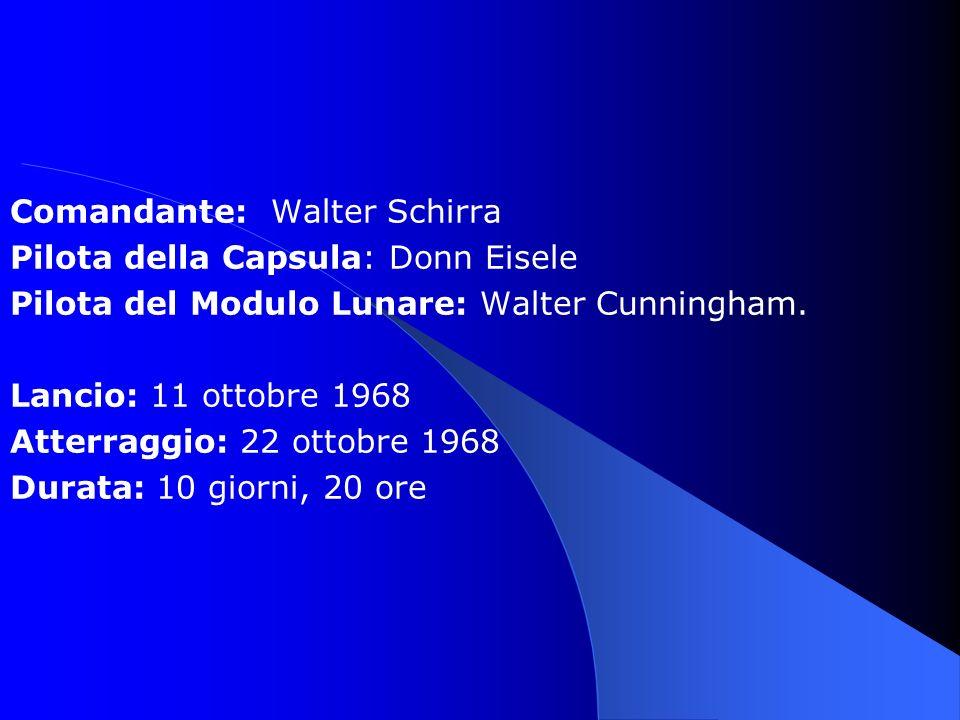 Comandante: Walter Schirra