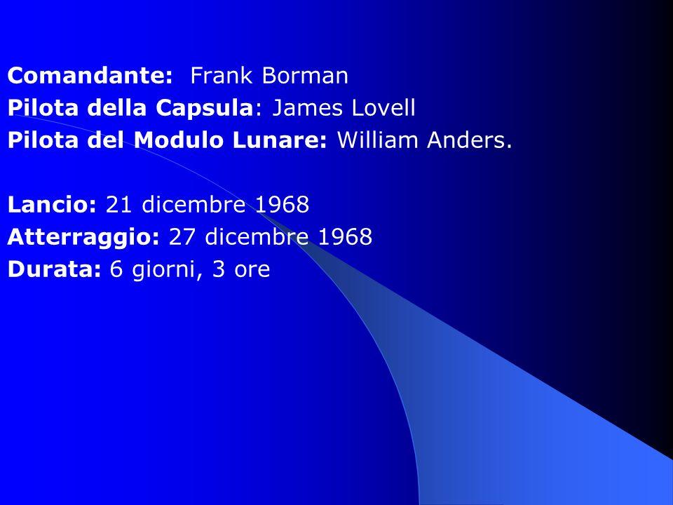 Comandante: Frank Borman
