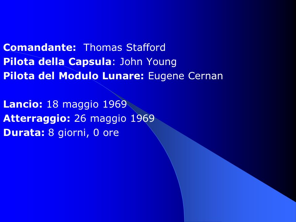 Comandante: Thomas Stafford