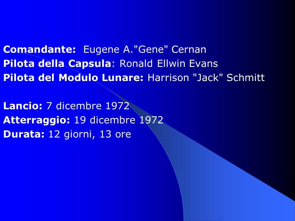 Comandante: Eugene A. Gene Cernan