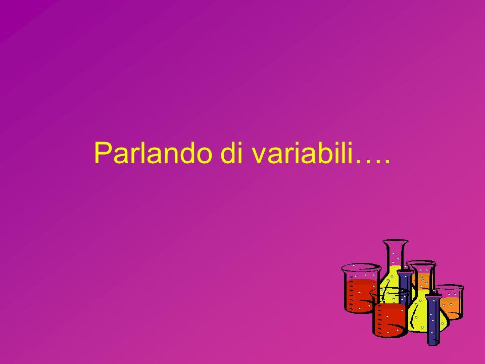 Parlando di variabili….