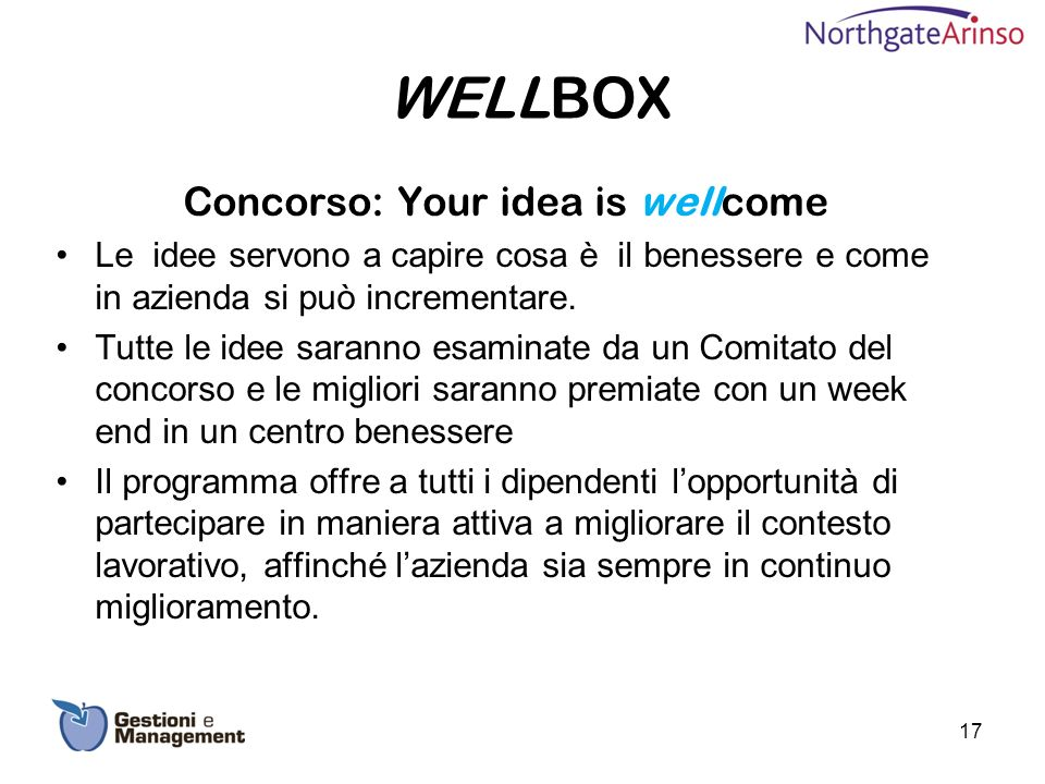 Concorso: Your idea is wellcome