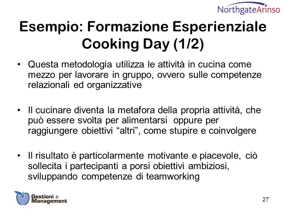 Esempio: Formazione Esperienziale Cooking Day (1/2)