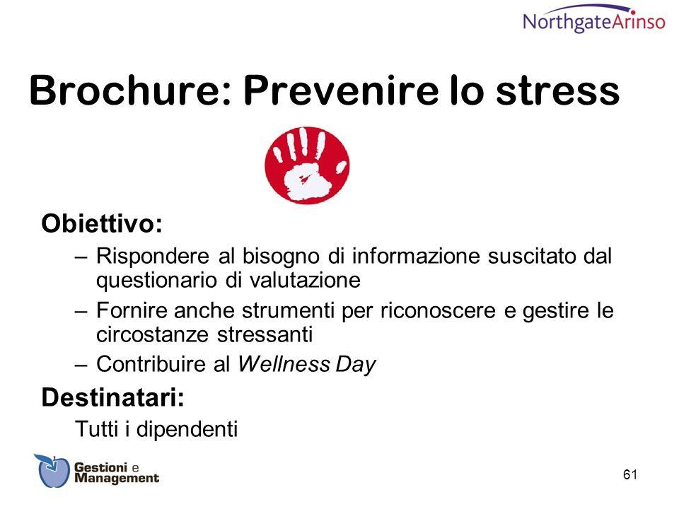 Brochure: Prevenire lo stress