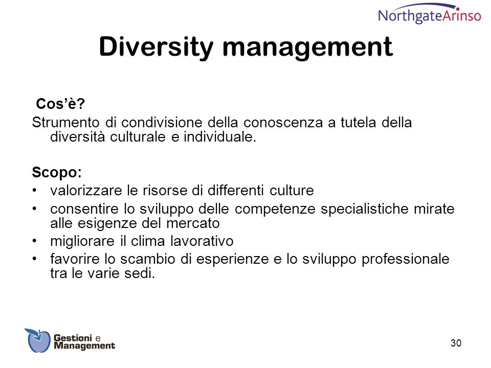 Diversity management Cos'è