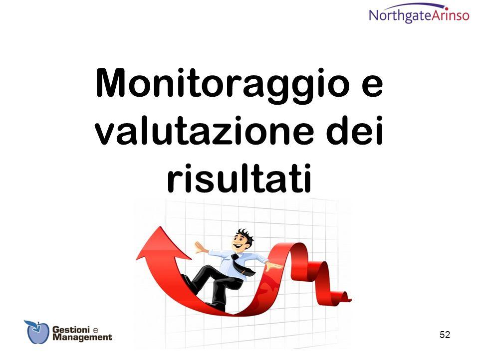 Monitoraggio e valutazione dei risultati