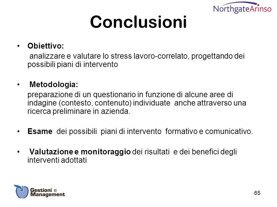Conclusioni Obiettivo: