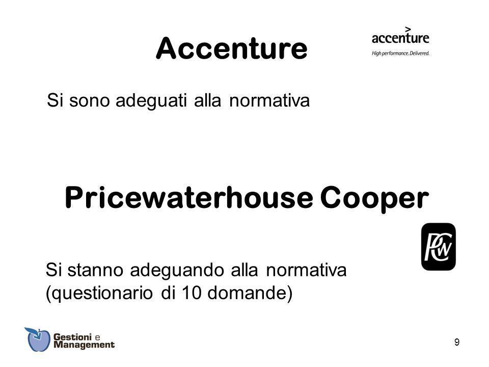 Accenture Si sono adeguati alla normativa
