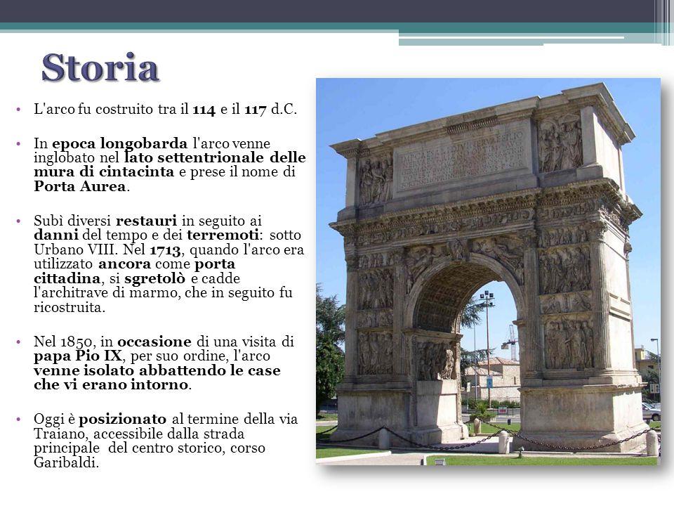 Storia L arco fu costruito tra il 114 e il 117 d.C.