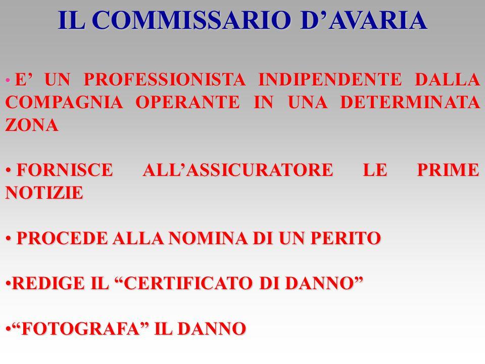 IL COMMISSARIO D'AVARIA