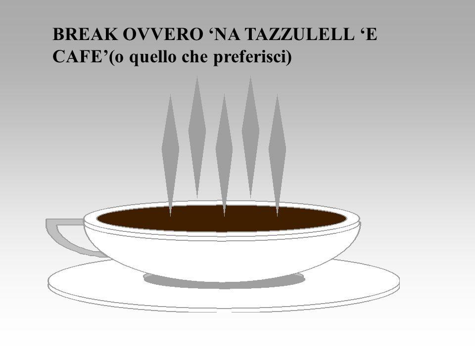 BREAK OVVERO 'NA TAZZULELL 'E CAFE'(o quello che preferisci)