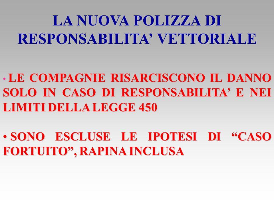 LA NUOVA POLIZZA DI RESPONSABILITA' VETTORIALE