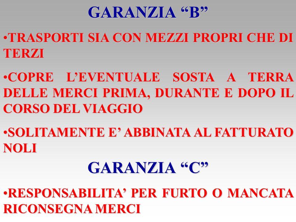 GARANZIA B GARANZIA C
