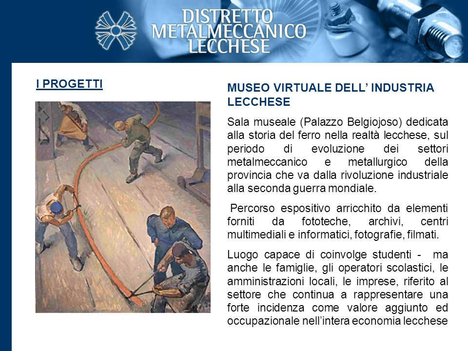 MUSEO VIRTUALE DELL' INDUSTRIA LECCHESE