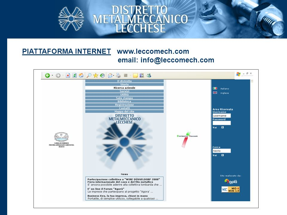 PIATTAFORMA INTERNET www. leccomech