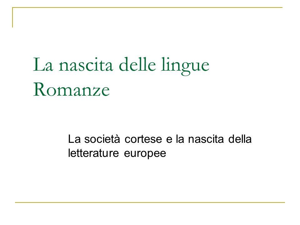 La nascita delle lingue Romanze