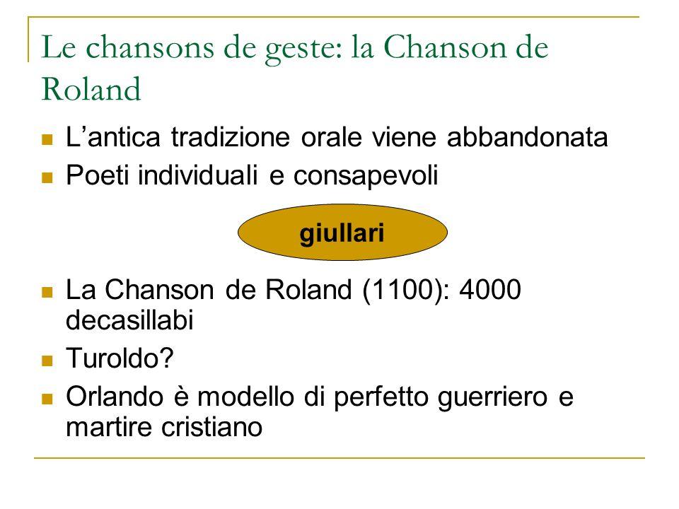 Le chansons de geste: la Chanson de Roland