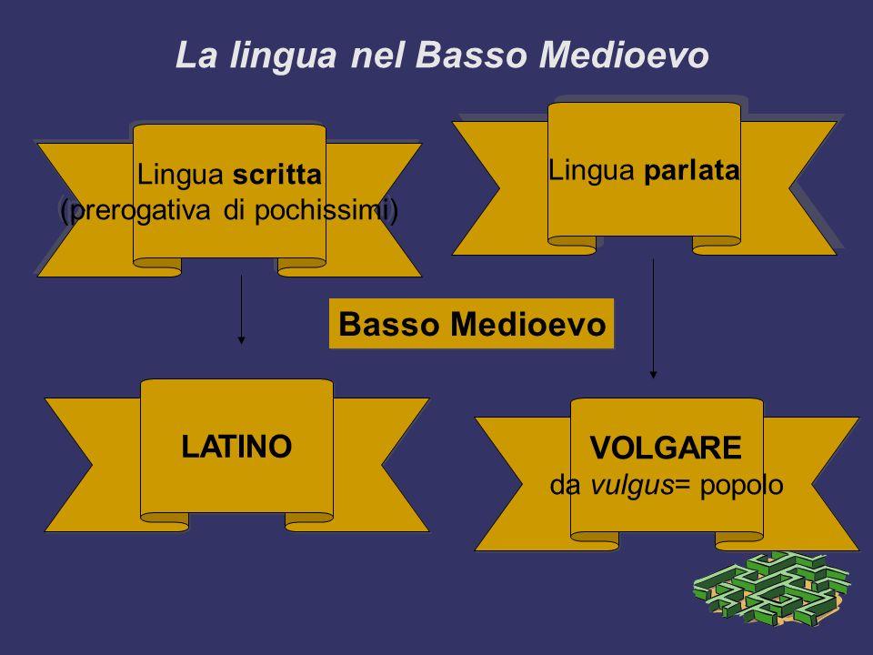 La lingua nel Basso Medioevo