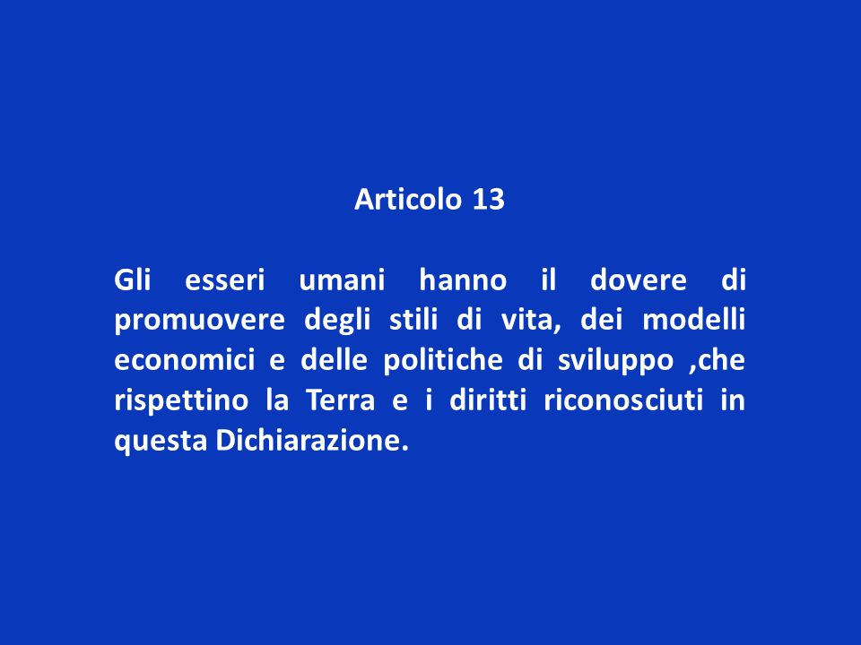 Articolo 13