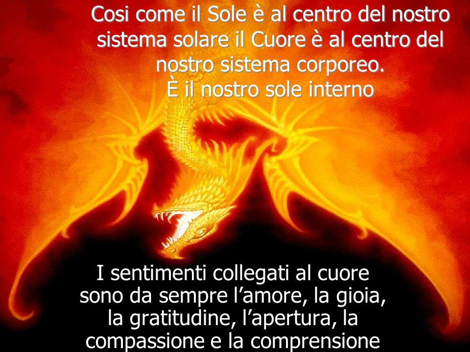 Cosi come il Sole è al centro del nostro sistema solare il Cuore è al centro del nostro sistema corporeo. È il nostro sole interno